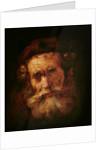 A Rabbi by Rembrandt Harmensz. van Rijn
