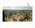 View of Versailles from the Place d'Armes by French School