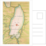 Map of Lake Ontario by French School