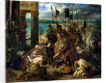 The Crusaders' entry into Constantinople, 12th April 1204 by Ferdinand Victor Eugene Delacroix