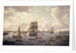 View of the Thames by English School
