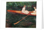 Boating on the river Epte, c.1889-1890 by Claude Monet