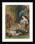 Lelia in the Cave by Ferdinand Victor Eugene Delacroix
