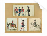 The uniforms of Scottish soldiers and Prussian, English, Hanoverian and Russian officers in 1814 by Pierre Antoine Lesueur