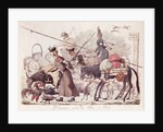 Caricature depicting the Entry into Paris of a Part of the Allied Troops by French School