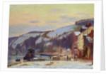 Hillside at Croisset under snow by Joseph Delattre