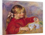 Claude Renoir at Play by Pierre Auguste Renoir