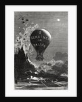 Frontispiece to 'Five Weeks in a Balloon' by Jules Verne by Edouard Riou