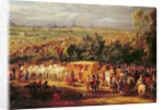 The Entry of Louis XIV and Marie-Therese of Austria in to Arras by Adam Frans Van der Meulen