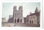 The Square in Front of Notre-Dame at the Time of the Consulat by Angelo Garbizza