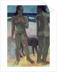 Two Tahitian Women on the Beach by Paul Gauguin