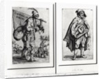 A Beggar and a Hurdy-Gurdy Player by Jacques Callot