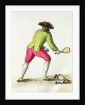 A Man Playing with a Racquet and Balls by Jan van Grevenbroeck