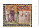 The Paralytic of Capharnaum is Lowered from the Roof, Scenes from the Life of Christ by Byzantine School