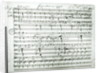 Autograph score of 'Fragment aus dem Aischylos' by Anonymous
