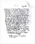 Letter from Mozart to his Father by Wolfgang Amadeus Mozart