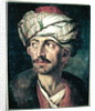 Head of an Oriental or Portrait Presumed to be Mustapha by Theodore Gericault