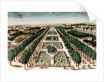View of the Jardin des Plantes from the Cabinet d'Histoire Naturelle by French School
