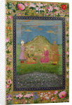 Humayun and Akbar with a vizier by Indian School