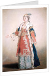Frankish Woman from Pera, Constantinople by Jean-Etienne Liotard