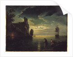 Evening Seascape by Claude Joseph Vernet
