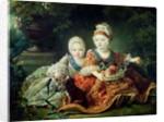 Louis de France duc de Berry and Louis de France comte de Provence, future Kings Louis XVI and Louis XVIII of France by Francois-Hubert Drouais