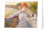 Alphonsine Fournaise at The Grenouillere by Pierre Auguste Renoir