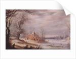 Winter Landscape by Gysbrecht Lytens or Leytens