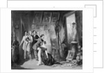 Interior of the Studio of Alfred Bruyas in Montpellier by Auguste Barthelemy Glaize