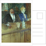 In the Bar: The Fat Proprietor and the Anaemic Cashier by Henri de Toulouse-Lautrec