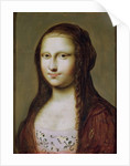 Portrait of a Woman Inspired by the Mona Lisa by Jean Ducayer