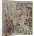Victory of the Navy of Louis XIV Against the English and Dutch Fleet in 1704 by French School