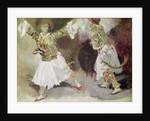 Two Greek Soldiers Dancing by Ferdinand Victor Eugene Delacroix