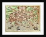 Map of Alexandria from 'Civitates Orbis Terrarum Coloniae Agrippinae' by Franz Hogenberg