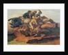 Four Jockeys Galloping by Theodore Gericault