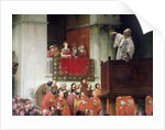 St. John Chrystostomos Preaching Before the Empress Eudoxia by Joseph Wencker