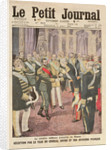 Reception of General Joseph Joffre by Nicolas II at the Peterhof Palace by French School