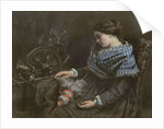 The Sleeping Embroiderer by Gustave Courbet