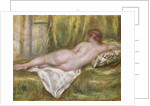 Reclining Nude from the Back, Rest after the Bath by Pierre Auguste Renoir