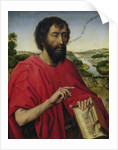 St. John the Baptist, left hand panel of the Triptych of the Braque Family by Rogier van der Weyden