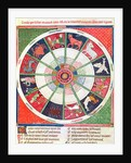 Fol.38r The Twelve Signs of the Zodiac and the Sun by Matfre Ermengaut