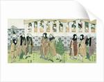 Actors Walking by Utagawa Toyokuni