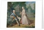 Louis Jean Marie de Bourbon, Duc de Penthievre with his daughter, Louise-Marie Adelaide by Jean Baptiste Charpentier