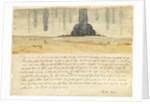 Dream landscape with text by Albrecht Dürer or Duerer