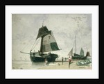 Two Fishing Boats, 1856 by Louis Adolphe Hervier