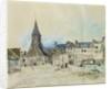 The Church of Sainte-Catherine, Honfleur by Johan-Barthold Jongkind
