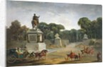 The Entrance to the Tuileries from the Place Louis XV in Paris by Jacques Philippe Joseph de Saint-Quentin