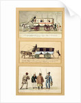 A Dame Blanche Carriage, an Omnibus and Drivers by Pierre Antoine Lesueur