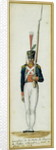 Grenadier of the Guard of Alexander I during a visit to France in 1814 by Pierre Antoine Lesueur
