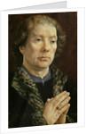 The Carondelet Diptych: left hand panel depicting Jean Carondelet Dean of Besancon church by Jan Gossaert